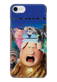 """Чехол для iPhone 7 глянцевый """"Зверопой"""" - музыка, животные, мультфильм, песня, зверопой"""