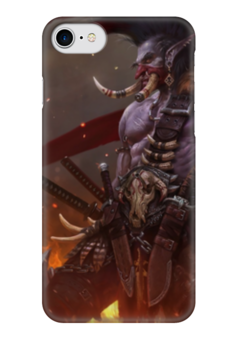 "Чехол для iPhone 7 глянцевый ""Тролль"" - wow, тролль, орда, world of warcraft, troll"