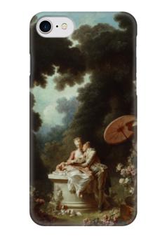 "Чехол для iPhone 7 глянцевый ""Признание в любви"" - картина, фрагонар"