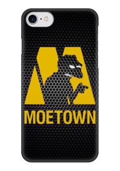 """Чехол для iPhone 7 глянцевый """"Moe town (Simpsons)"""" - симпсоны, the simpsons, moe, мо"""