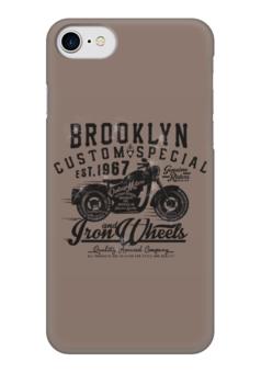 "Чехол для iPhone 7 глянцевый ""Brooklyn Bike"" - мото, мотоциклы, байки, байкеры"