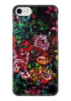 """Чехол для iPhone 7 глянцевый """"Розовый куст"""" - любовь, весна, красота, подарок, розы"""