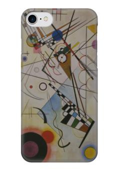 """Чехол для iPhone 7 глянцевый """"Композиция VIII (Composition No 8) (Кандинский)"""" - картина, кандинский"""