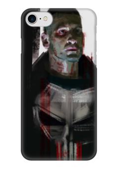 "Чехол для iPhone 7 глянцевый ""Каратель (The Punisher)"" - марвел, комиксы, панишер, punisher, каратель"