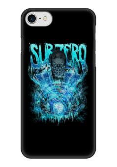 """Чехол для iPhone 7 глянцевый """"Sub-Zero (Mortal Kombat)"""" - art, ниндзя, синий, боец, mortal kombat, sub-zero"""