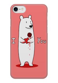 "Чехол для iPhone 7 глянцевый ""Happy Valentine's Day"" - любовь, love, с днём святого валентина, валентинки, happy valentine's day"