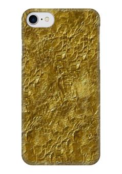 """Чехол для iPhone 7 глянцевый """"Золотая фольга"""" - золото, gold"""