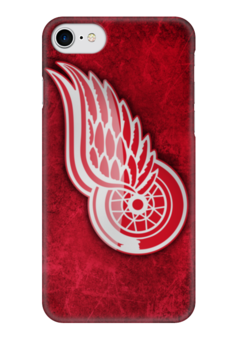 "Чехол для iPhone 7 глянцевый ""Detroit Red Wings"" - хоккей, nhl, нхл, детройт ред уингз, red wings"