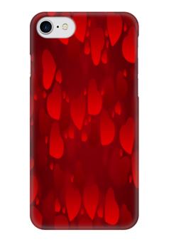 """Чехол для iPhone 7 глянцевый """"Сердечки"""" - сердце, любовь, love is, романтика"""