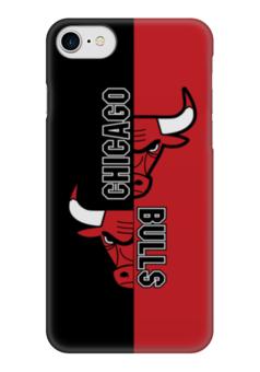 """Чехол для iPhone 7 глянцевый """"Чикаго Буллз"""" - чикаго буллз, chicago bulls, баскетбол, спорт"""