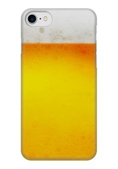 """Чехол для iPhone 7 глянцевый """"Пиво всегда!"""" - счастье, бар, друзья, вечеринка, party"""