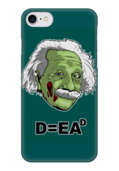 """Чехол для iPhone 7 глянцевый """"Zombie Einstein"""" - zombie, зомби, horror, ужасы, einstein, энштейн"""
