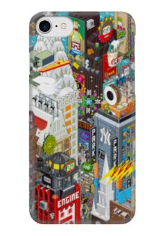 """Чехол для iPhone 7 глянцевый """"Нью Йорк"""" - new york, ny, нью йорк, new york city"""