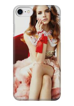 """Чехол для iPhone 7 глянцевый """"LANA DEL REY """" - lana del rey, лана дель рей"""