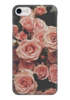 """Чехол для iPhone 7 глянцевый """"Цветы"""" - арт, лето, цветы, розы, roses"""