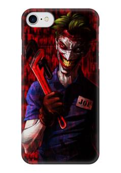 """Чехол для iPhone 7 глянцевый """"Джокер"""" - комиксы, джокер, dc, псих, газовый ключ"""