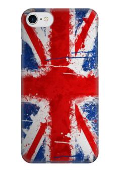 "Чехол для iPhone 7 глянцевый ""Флаг Великобритании"" - флаг, uk, великобритания, union jack"