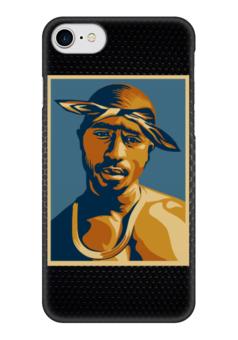 "Чехол для iPhone 7 глянцевый ""Тупак Шакур (2pac)"" - 2pac, тупак, тупак шакур, tupac shakur"