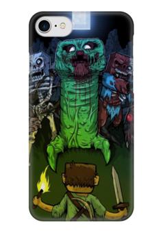"Чехол для iPhone 7 глянцевый ""Minecraft (Майнкрафт)"" - zombie, зомби, creeper, mob, noob"