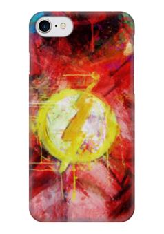 "Чехол для iPhone 7 глянцевый ""Флэш (Flash)"" - flash, комиксы, dc, dc comics"
