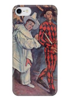 "Чехол для iPhone 7 глянцевый ""Пьеро и Арлекин"" - картина, сезанн"