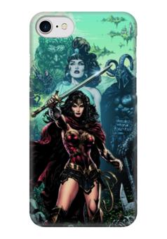 "Чехол для iPhone 7 глянцевый ""Чудо-Женщина (Wonder Woman)"" - комиксы, dc comics, чудо-женщина, justice league, лига справедливости"