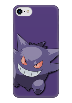 "Чехол для iPhone 7 глянцевый ""Генгар"" - нинтендо, nintendo, pokemon go, покемон го, gengar"