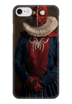 "Чехол для iPhone 7 глянцевый ""Super Flamands"" - человек паук, spider-man, человек-паук, super flamands"