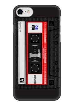 "Чехол для iPhone 7 глянцевый ""кассета"" - ретро, кассета"
