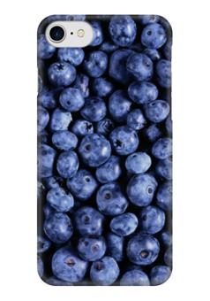 """Чехол для iPhone 7 глянцевый """"Черника"""" - ягоды, blueberry"""