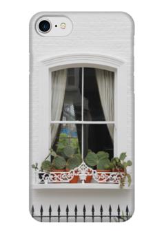 """Чехол для iPhone 7 глянцевый """"Лондонское окно"""" - london, лондон, окно, window"""