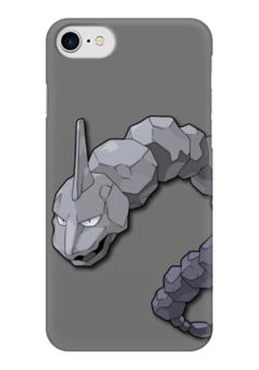 "Чехол для iPhone 7 глянцевый ""Оникс"" - нинтендо, nintendo, pokemon go, покемон го, onix"