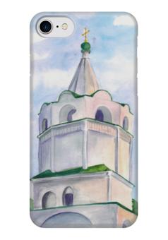 """Чехол для iPhone 7 глянцевый """"Колокольня"""" - мир, россия, воздух, христианство, колокольня"""