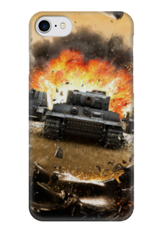 """Чехол для iPhone 7 глянцевый """"Танки (Wot)"""" - world of tanks"""