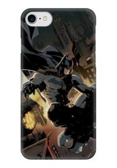 "Чехол для iPhone 7 глянцевый ""Бэтмен"" - комиксы, batman, бэтмен, dc, dc comics"