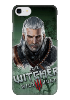 "Чехол для iPhone 7 глянцевый ""witcher"" - ведьмак, witcher, the witcher"