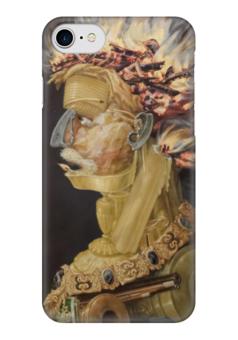 "Чехол для iPhone 7 глянцевый ""Огонь (картина Джузеппе Арчимбольдо)"" - картина, арчимбольдо"