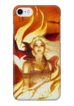 "Чехол для iPhone 7 глянцевый ""Game_of_Thrones"" - игра престолов, game of thrones, daenerys targaryen, дейенерис таргариен"