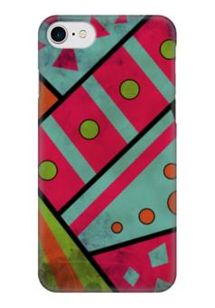 """Чехол для iPhone 7 глянцевый """"Яркая геометрия"""" - полосы, круги, геометрия, треугольники"""