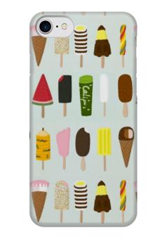 """Чехол для iPhone 7 глянцевый """"Эскимо"""" - лето, сладости, мороженое, эскимо, ice cream"""