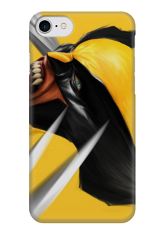 "Чехол для iPhone 7 глянцевый ""marvel"" - комиксы, люди икс, x-men, wolverine, рассомаха"
