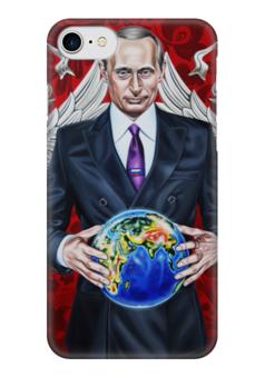 """Чехол для iPhone 7 глянцевый """"Big Boss - iPhone6"""" - любовь, россия, политика, путин, босс"""
