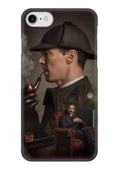 "Чехол для iPhone 7 глянцевый ""Sherlock"" - sherlock, holms, benedict cumberbatch, john watson, martin freeman"