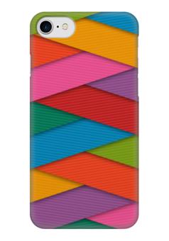 "Чехол для iPhone 7 глянцевый ""Яркие полосы"" - арт, цвета, полосы, яркая"