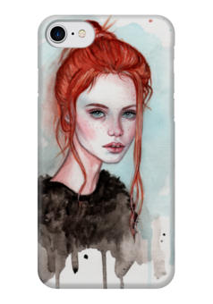 """Чехол для iPhone 7 глянцевый """"Рыжая"""" - девушка, мода, рыжая, фэшн, модель"""