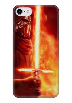 """Чехол для iPhone 7 глянцевый """"Кайло Рен (Kylo Ren)"""" - star wars, звездные войны, kylo ren, бен соло, ben solo"""