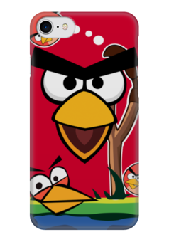 "Чехол для iPhone 7 глянцевый ""Angry Birds 2"" - игры, игра, angry birds, angry birds 2"