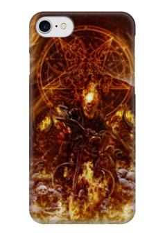 """Чехол для iPhone 7 глянцевый """"Призрачный гонщик"""" - комиксы, марвел, призрачный гонщик, ghost rider"""