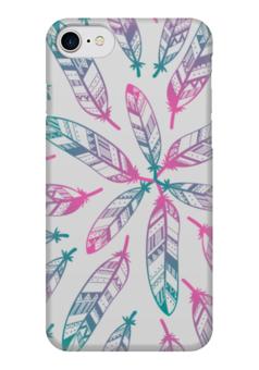 """Чехол для iPhone 7 глянцевый """"В стиле Бохо"""" - арт, хиппи, инди, перья, бохо"""