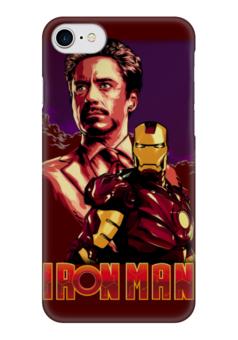 """Чехол для iPhone 7 глянцевый """"Iron Man/Железный человек"""" - фантастика, marvel, железный человек, iron man, ironman"""